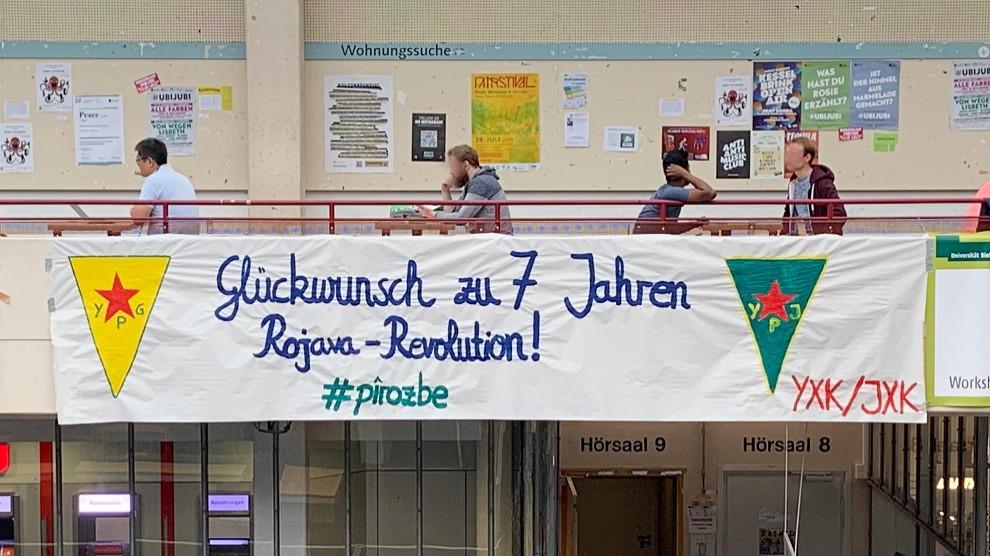 Jahrestag.Anf Bilderausstellung Zum 7 Jahrestag Der Rojava Revolution